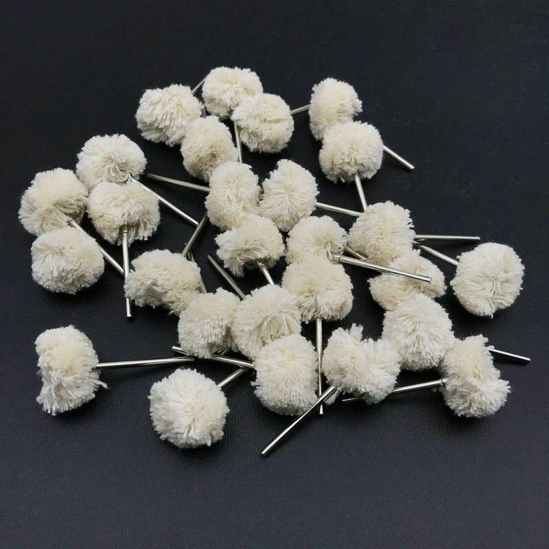 50 pecas dental algodao escovas polimento rodas 04