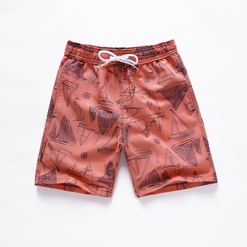 Summer Casual Kids' Beach Shorts Baby Quick-Dry Swimming Trunks Hot Springs Shorts Currently Available Printed Boardshort