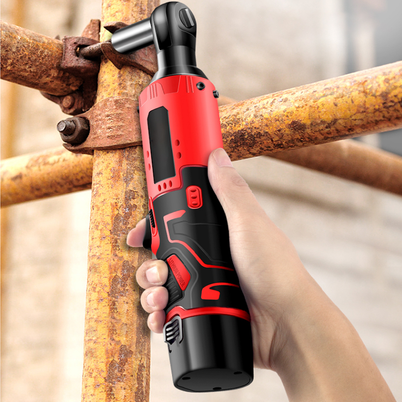 Electric Ratchet Wrench 65Nm Power Tools Durable Electric Wrench Rechargeable Electric Wrench 12V Silicone Right Angle