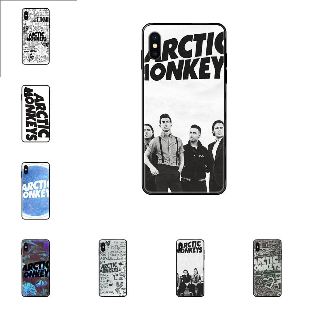 For iPhone 11 12 Pro 5 5S SE 5C 6 6S 7 8 X XR XS Plus Max Diy Luxury High-End Protector Soft Phone Case Arctic Monkeys Logo