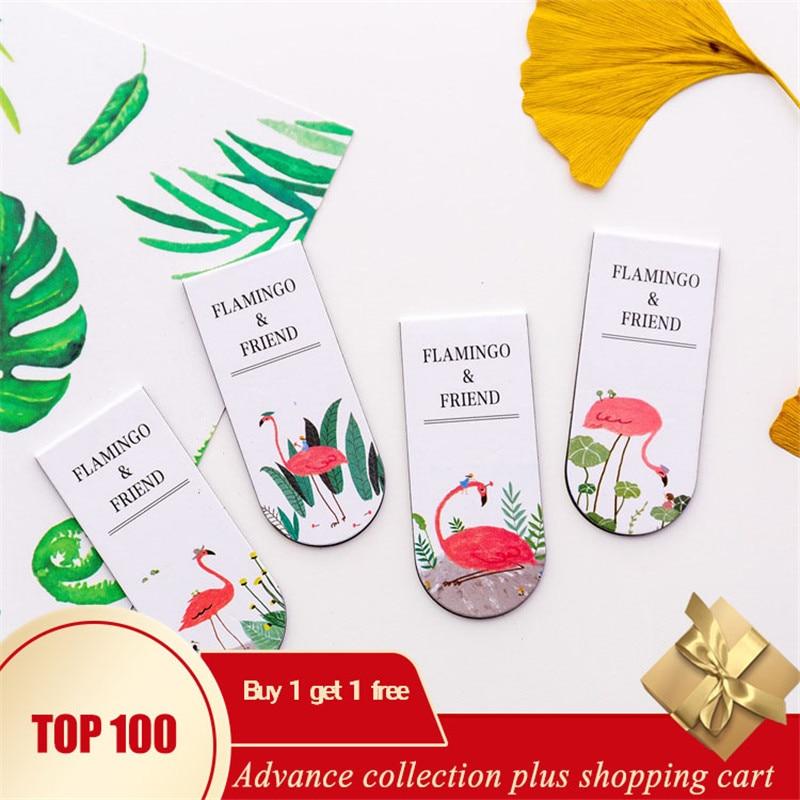 Boekenlegger Magnetic Bookmark Unicorn Flamingo Colegio Separadores De Libros  Animal Rotuladores Book Accessories Teacher Gifts