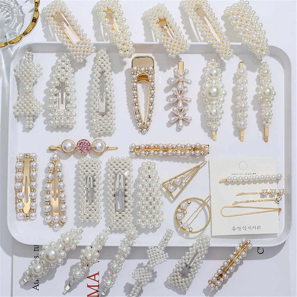 2/4/3/5Pc Hairpins With Pearl Hair Clip Hairband Comb Bobby Pin Barrette Hairpin Headdress Accessories Beauty Styling Tools New