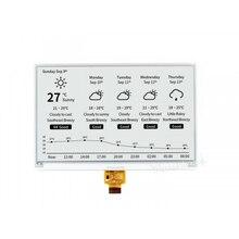 Waveshare-Pantalla de 7,5 pulgadas e-ink Raw 800x480, interfaz SPI de papel blanco y negro, compatible con Raspberry Pi 2B/3B/3B +/Zero W