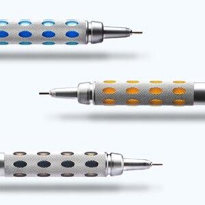 Image 4 - 1pcs Pente Graph Gear1000 Full Metal Scrub Handle Telescopic Head PG1015 Advanced Auto 0.3 0.5 0.7 0.9mm Drawing Activity Pencil