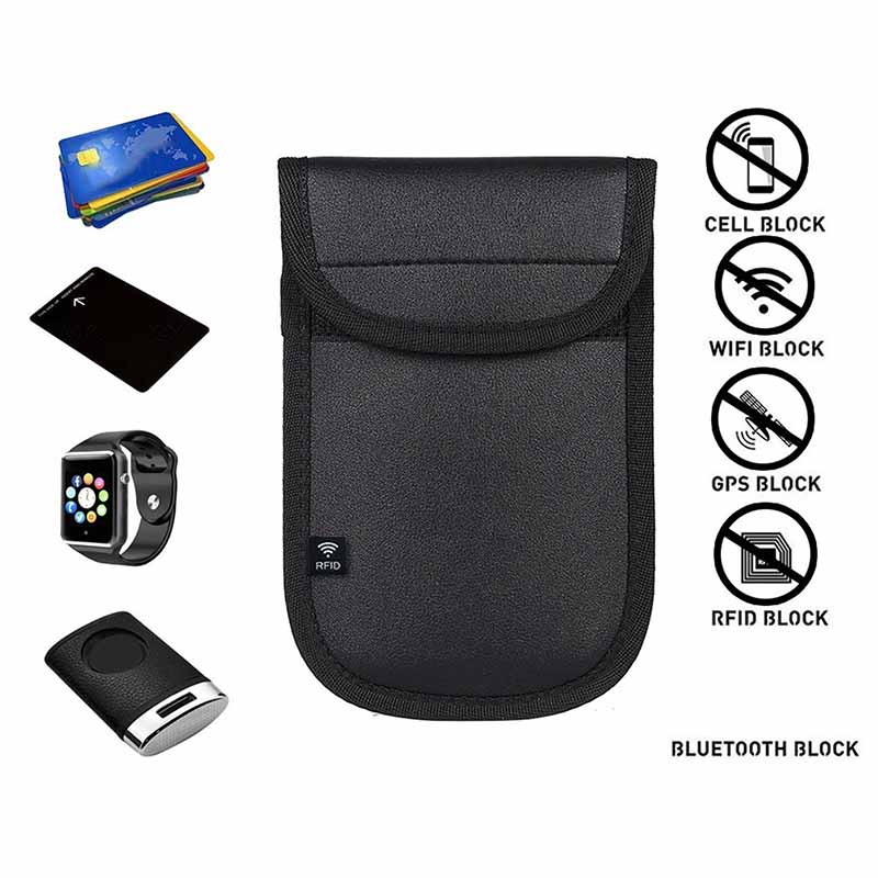 2xAnti-Theft Car Key Signal Blocker Case Bag Keyless Entry Fob Pouch for Faraday