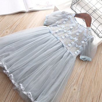 2019 Summer Girl Clothes Kids Dresses For Girls Lace Flower Dress Baby Girl Party Wedding Dress Children Girl Princess Dress 5