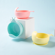 Tableware Silicone Sucker-Bowl Snack Catcher Baby Children's Solid Drop-Resistant