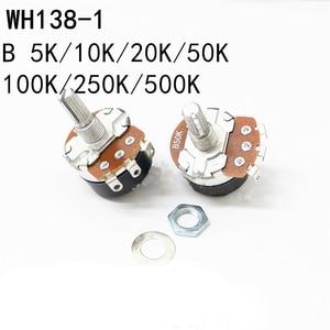 WH138-1 Carbon film resistance rotary potentiometer with Switch Speed Regulator 3pin hole foot 5K 10K 20K 22K 50K 100K 250K 500K