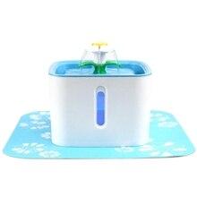 Питомец кошка фонтан питьевой чаша, цветок Sytle светодиодный 54 Oz/1.6L автоматический питомец фонтан собака диспенсер воды с 1 силиконовым матом