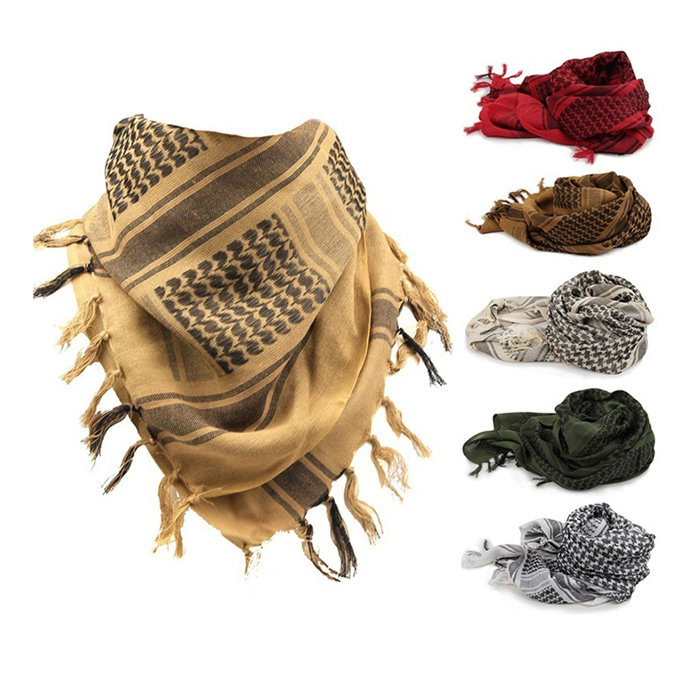 2020 New Spring Winter Military Fashion Lightweight Army Plaid Scarf Men And Women Tactical Arab Scarf To Keep Warm
