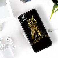 Funda de silicona con diseño dorado Roronoa Zoro para iPhone Se 6 6s 7 8 Plus X Xr Xs 11 12 Mini Pro Max, carcasa suave de TPU