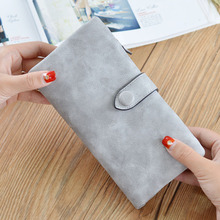 Long Female Wallet Carteira Feminina Scrub Leather Lady Purses High Quality Ladies Clutch Hot Sales Brand Women