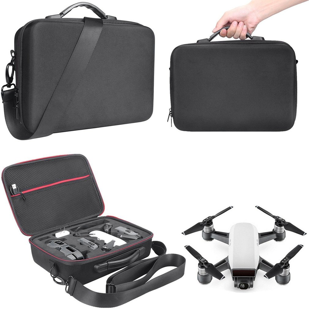 EVA Hard Shell RC Drone Storage Bag Portable Waterproof Case Handheld Shoulder Bag for DJI Spark Drone Accessories in Parts Accessories from Toys Hobbies