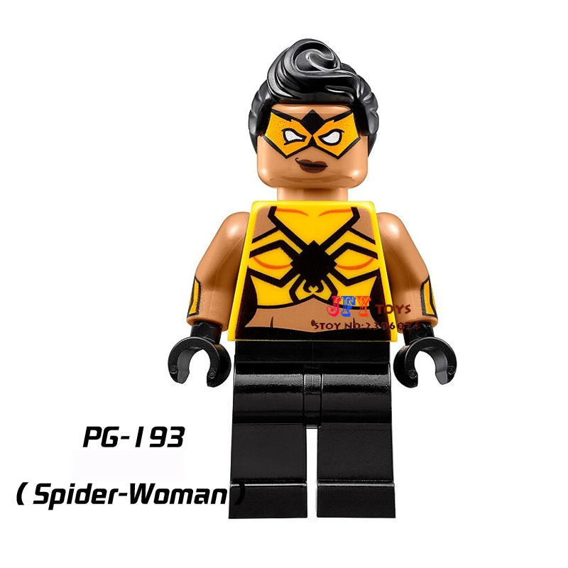 Single Super Heroes Justice League Spider-woman Building Blocks Model Brick Toy For Children Action Figures
