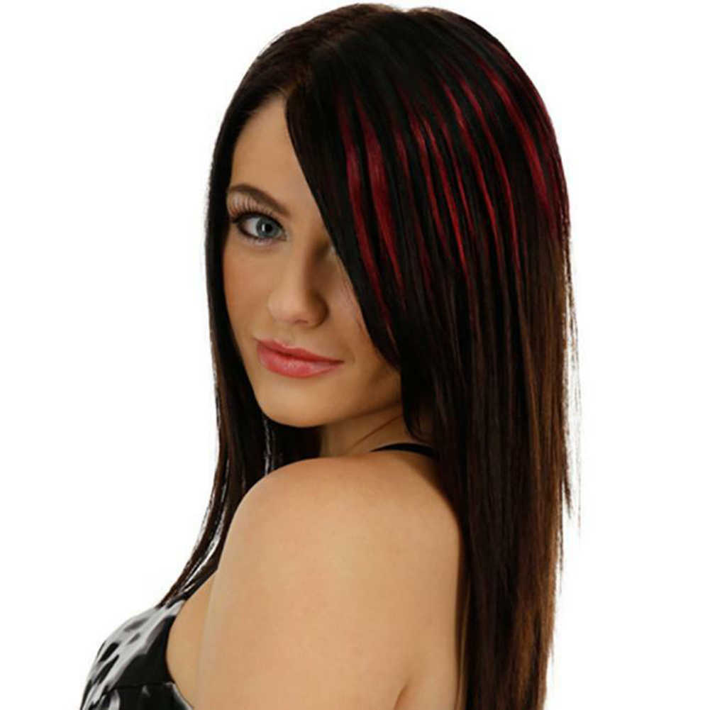 شعر مستعار عصري مكون من 13 لونًا شعر مستعار مستقيم ومزيج ومزيج ومزيج بشعر مستعار
