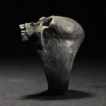 Bague tête de mort ténèbres