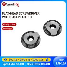 SmallRig Flache Kopf Schraubendreher mit Grundplatte Kit (Paar) für SmallRig Käfig/L halterung/Griff/Quick Release Platte/Grundplatte 2453