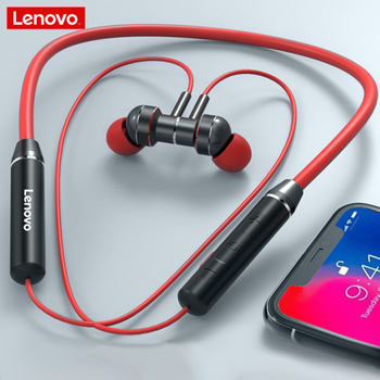 Lenovo-auriculares He06 Bluetooth 5,0, auriculares inalámbricos, Auriculares deportivos a prueba de sudor, IPX5 con micrófono y cancelación de ruido