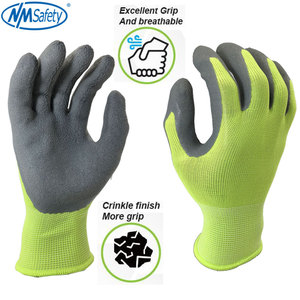 Image 4 - NMSafety Garden Working Gloves for Men or Women with Colorful Polyester Black Foam Latex Safety  Protective Gloves