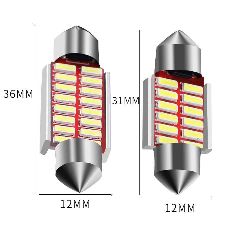 1pcs Car Interior Light 31mm 36mm 39mm 41mm SMD LED Bulbs C10W C5W Festoon Mirror Dome Reading Door Number Lamp car styling