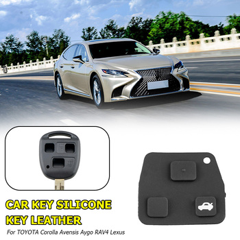 Lightness Portability Rubber Button Pad No Space Occupy for TOYOTA Corolla Avensis RAV4 Lexus Remote Car Key Shell image