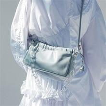 цена на Spring/Summer 2020 new acrylic chain handbag magnetic buckle fold bag bag shoulder shoulder bag female
