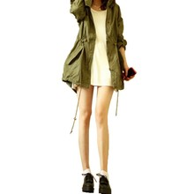 Womens Winter Warm Army Green Military Trench Hooded Coat New Vcqy