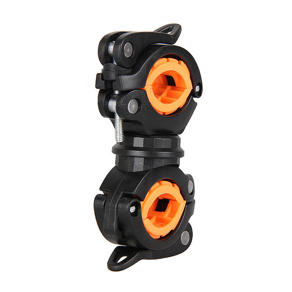 1x Cycling Bike Flashlight Clamp Torch Stand 360 Degree Rotation Mount Bracket