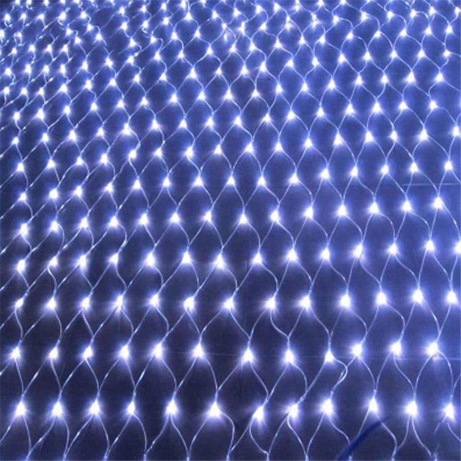 Thrisdar 2x2m 3x2m 6x4m LED Net Mesh Fairy String Light Christmas Tree-wrap Lights Outdoor Wedding Party Curtain Garland Light