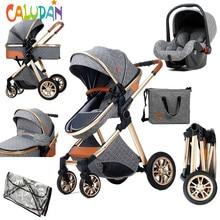 2021 nowy wózek dziecięcy 3 w 1 wózek wysokiego krajobrazu rozkładane wózki dla dzieci składany wózek łóżeczko dla niemowląt Puchair noworodka