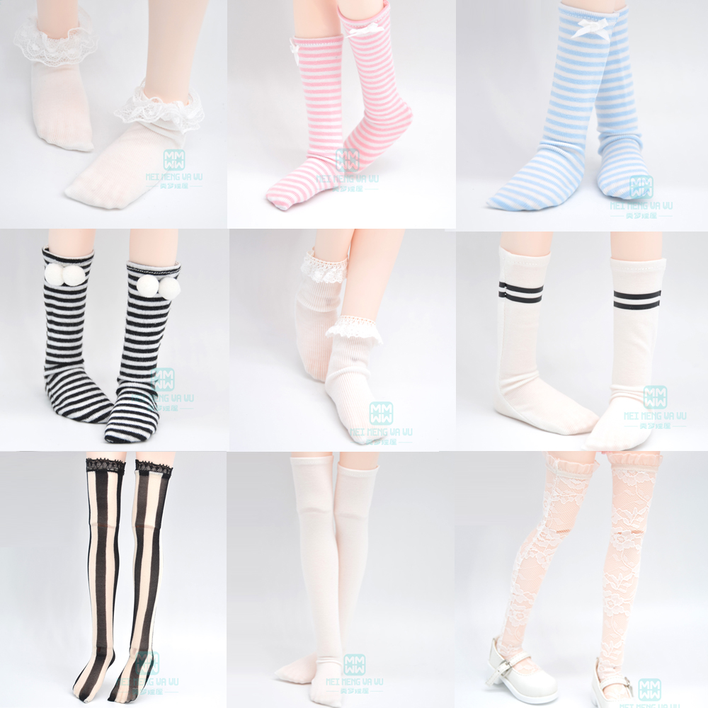 Doll Accessories Fashion Socks Variety Of Multi-color For 1/6 1/4 1/3  BJD SD DD MSD YOSD Doll