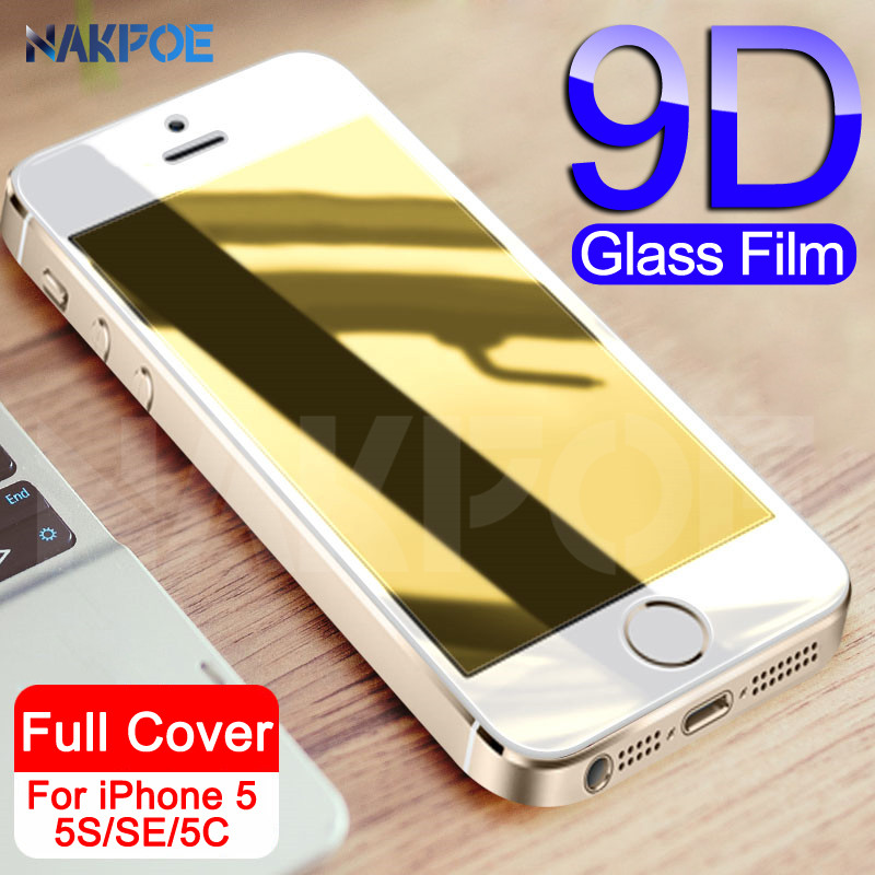 9D Tempered Glass On The For Apple IPhone 5S 5 SE Screen Protector Anti-Burst Protective Film Glass For IPhone 5S Se 4S Glass