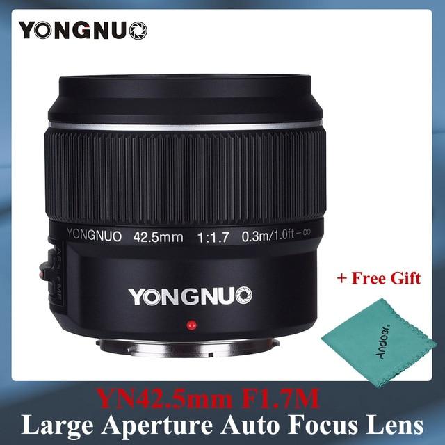 Yongnuo YN 42,5mm F 1,7 Große Blende AF/MF Autofokus Standard Fixfokus objektiv Leicht Unschärfe Hintergrund mit freies Linse Tuch