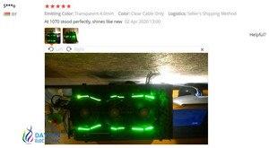 Image 5 - จัดส่งฟรี 4.0 มม.เรืองแสงสายไฟเบอร์ Competer การ์ด Graphics การ์ด Shining เปลี่ยนสาย