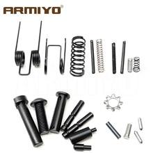 Armiyo 21pcs/set Enhanced ar 15 Lower Parts Kit 223 / 5.56 Spring Kit Replacement Retaining Pin Pivot Column Hunting Accessories