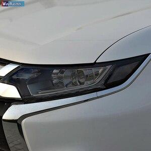 Etiqueta preta transparente da restauração do farol da película protetora do farol do carro tpu para mitsubishi outlander 2015-2020 acessórios