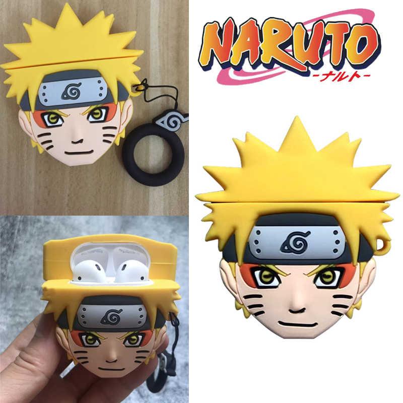 อะนิเมะ Naruto Uzumaki Naruto หูฟังหูฟังป้องกันกรณีคอสเพลย์ Props Unisex Airpods 1 2 บลูทูธชุดหูฟัง