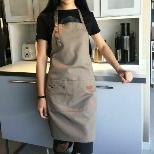 New Pure Color Cooking Kitchen Canvas Apron Unisex Woman Men Chef Waiter Cafe Shop BBQ Hairdresser Aprons