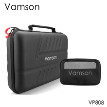 Vamson for go pro 액세서리 키트 gopro hero 8 black 7 6 5 방수 케이스 pu for dji yi 하드 쉘 보관함 vp808