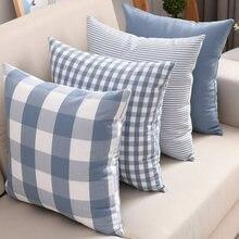 60x60 decoração de casa xadrez capa de almofada capa de almofada decorativa plaids e capas nordic capa de almofada 50x50 notícias quadradas mais vendidos