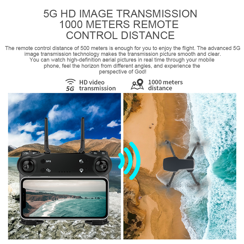 ZWN SG108 GPS Drone with 5G Wifi FPV 4K HD Dual Camera Brushless Optical Flow RC Quadcopter Follow Me Mini Dron vs L108 EX5 4
