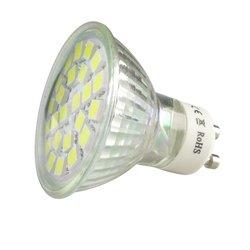GU10 4W 3000K się niskim zużyciem energii  przyjazny dla środowiska nie nadaje się do ściemniania kompaktowy rozmiar lekki 120 stopni kąt padania wiązki światła reflektor LED w Panel oświetleniowy LED od Lampy i oświetlenie na