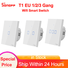 Sonoff TX T1 EU 1 2 3 Gang Wifi/433/RF Switch Smart Home Aut