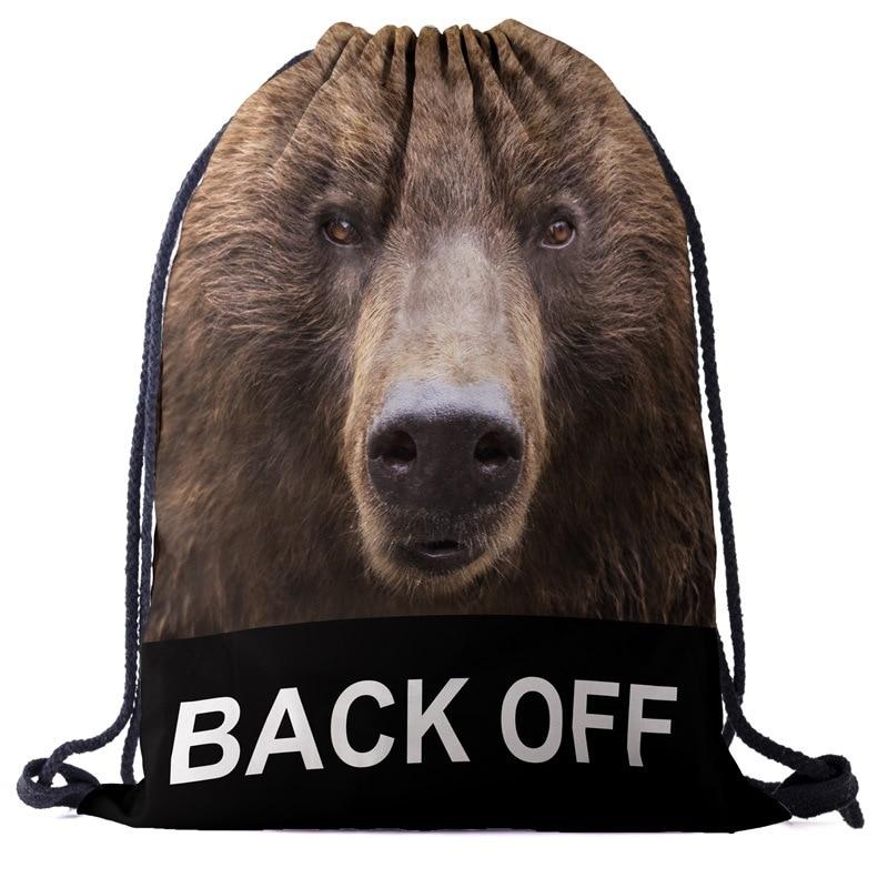 Bags Tiger Backpack Drawstring Drawstring Fashion 3D Printing  Travel Softback Men Bags Unisex Women's Shoulder Bag Knapsack New
