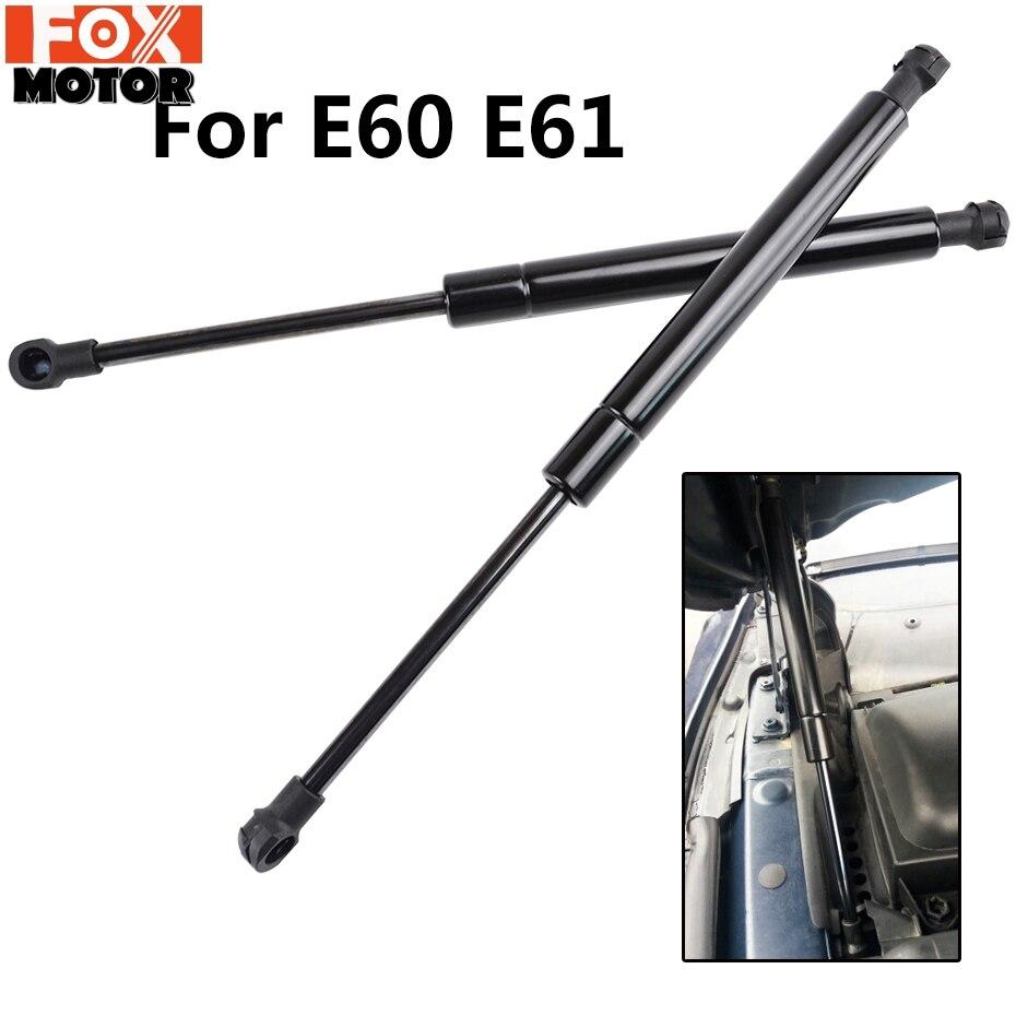 Für BMW E60 E61 edelstahl haube lift unterstützung motorhaube heber streben schock dämpfer motor abdeckung unterstützung stange vorne haube