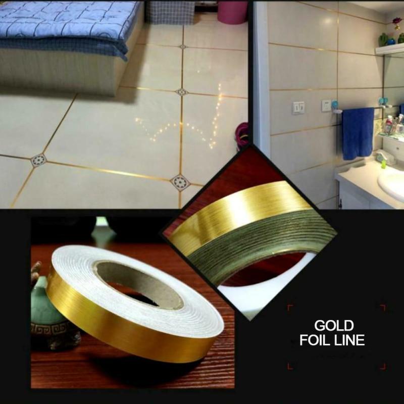 50m Self Adhesive Tile Sticker Waterproof Wall Gap Sealing Tape Strip Floor Tile Beauty Seam Sticker Home Decoration Decals