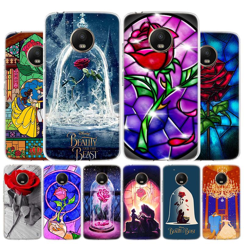 Beauty And The Beast Anime Love Phone Case For Motorola Moto G8 G7 G6 G5S G5 G4 E6 E5 E4 Plus Play Power One Action X4 Cover Coq