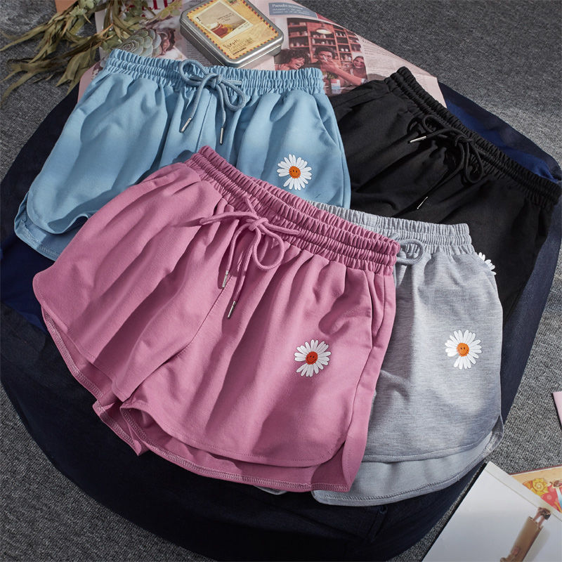 Fashion All-match Women Short Pant Summer Casual Lady Loose Soft Cotton Leisure Female Workout Waistband Skinny Stretch Shorts
