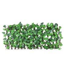 Clôture en treillis extensible rétractable, clôture de protection contre les UV pour usage intérieur et extérieur, plantes de jardin artificielles