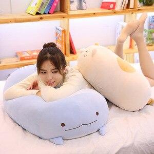Image 1 - 60/90cm 자이언트 코너 바이오 베개 일본 애니메이션 Sumikko Gurashi 봉제 인형 부드러운 만화 어린이 소녀 발렌타인 선물
